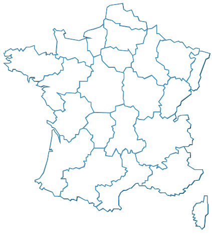 Régions, bons tracés